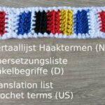 Übersetzungsliste Häkelbegriffe